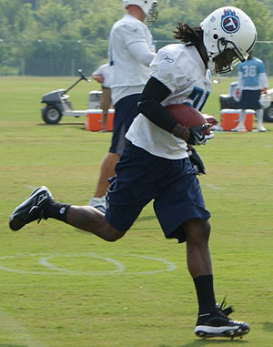 Chris Johnson (running back) - Johnson at Titans 2009 Training Camp.