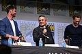 Chris Hemsworth, Joe Russo & Tom Hiddleston (36246475015).jpg