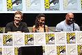Chris Pratt, Zoe Saldana & Dave Bautista (9361560581).jpg