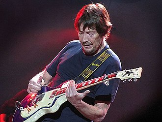 "Chris Rea - Rea playing on his Italia Maranello called ""Bluey"" at the Heineken Music Hall, Amsterdam, 2010"