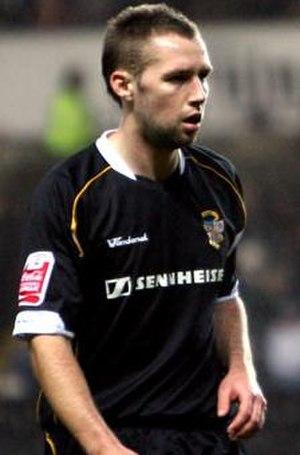 Chris Slater - Slater in Port Vale's away shirt, 2008