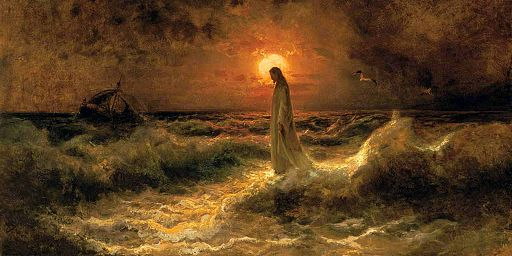 Christ Walking on the Waters, Julius Sergius Von Klever