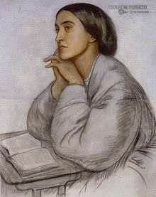 Portrait of Christina Rossetti, by her brother Dante Gabriel Rossetti