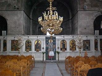 Feres, Evros - Image: Church interior, nave, Feres, Evros