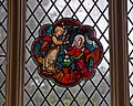 Church of St Andrew's, Boreham, Essex - Medieval stained glass fragment.jpg