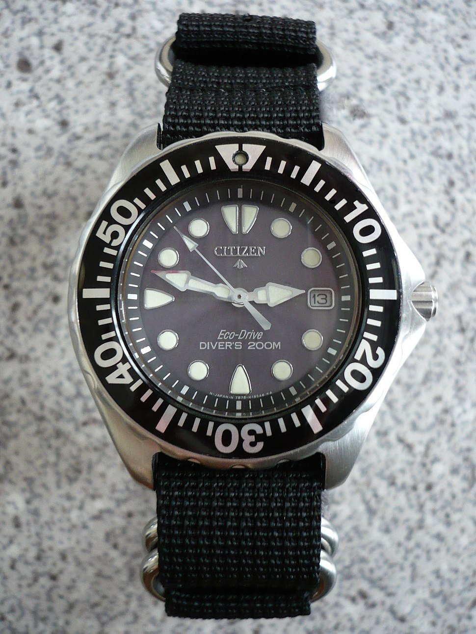 Citizen Promaster Eco-Drive AP0440-14F Diver's 200 m on a 4-ring NATO style strap