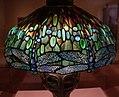 Clara pierce wolcott per tiffany studios, lampada ombra di libellula su base mosaicata guscio di tartaruga, ante 1906, 02.jpg
