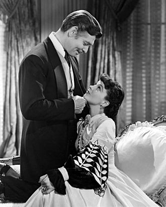 Gone with the Wind (film) - Publicity photo of Clark Gable and Vivien Leigh as Rhett and Scarlett