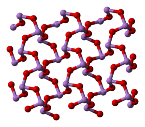 Kristallstruktur von Arsentrioxid
