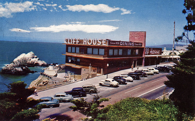 Restaurant Cliff House près de San Francisco.