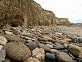 Cliffs of magnesian limestone north of Salterfen Rocks - geograph.org.uk - 1530641.jpg