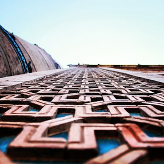 Tomb of Shah Rukn-e-Alam - Image: Close up detail of the facade of the tomb of shah rukn e alam
