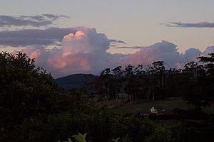 Gunns - The proposed mill site taken from Kayena, Tasmania