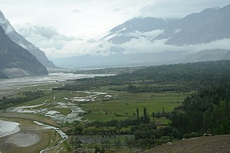 Shigar - Clouds over Shigar valley
