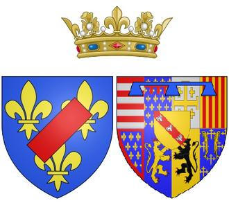 Françoise de Lorraine, Duchess of Vendôme - Coat of arms as Duchess of Vendôme