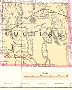 Map Of Arizona 1880.Charleston Arizona Wikipedia