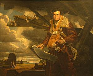 Deane Keller - Colin Purdie Kelly, Jr., American aviator, painted by Deane Keller