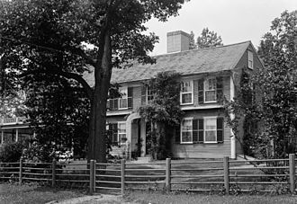 William Prescott - Colonel William Prescott's House (looking NW) in Pepperell, Middlesex County, Massachusetts. Photographed on June 18, 1941.