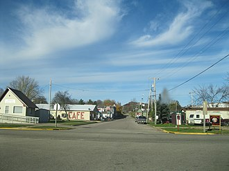 Ontario, Wisconsin - Commercial district in Ontario
