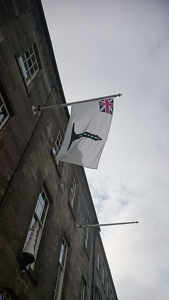 Northern Lighthouse Board - Commissioners' Flag, flown outside the NLB HQ in Edinburgh
