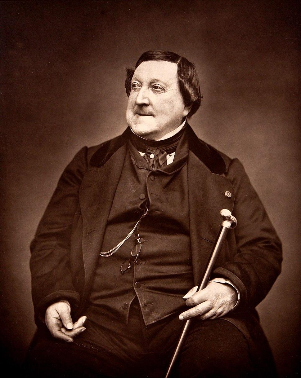 Composer Rossini G 1865 by Carjat