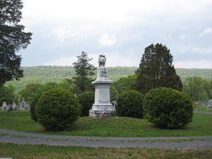 Christian Streit White - The Confederate Memorial at Indian Mound Cemetery in Romney, West Virginia. Dedicated on September 26, 1867, the idea for the memorial had originated between White, his brother Robert White and his wife, his sister Fannie White, and his future wife Bessie Jane Schultze.