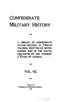 Confederate Military History - 1899 - Volume 7.djvu