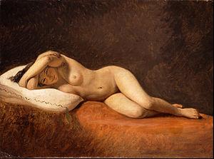 Constantin Hansen - Resting Model, 1839