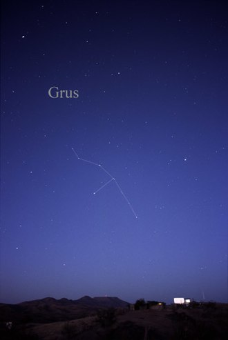 Grus (constellation) - The constellation Grus as it can be seen by the naked eye