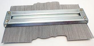 Profile gauge - A contour gauge