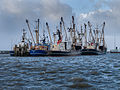 Cooped up Fishing ships in the harbour of Lauwersoog during the 5-6 december 2013 storm 03.jpg