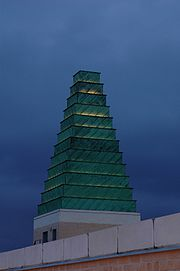 Copper-clad spire at the Saïd Business School Oxford.jpg