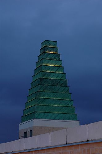 Copper cladding - Copper-clad spire at the Saïd Business School Oxford