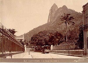 Christ the Redeemer (statue) - A view of the Corcovado before the construction, 19th century