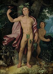 Bacchus and a Satyr