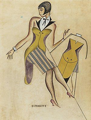 Stenberg brothers - Costume design for Day and Night by Georgii Stenberg - circa 1920