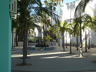 Beverly Hills Civic Center - Palm Court inside the Beverly Hills Civic Center