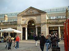 The exterior of Covent Garden market