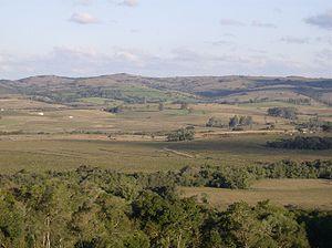 Serras de Sudeste - Coxilhas (hills) in Morro Redondo, Rio Grande do Sul state, Brazil.