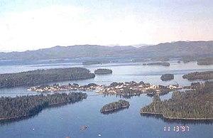 Craig, Alaska - Oblique aerial view of Craig from the south