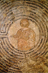 Christ in a labyrinth