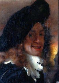 Vermeer egyetlen állítólagos arcképe a Kerítőnő című festményén[1]