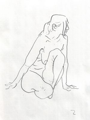 Croquis - Croquis drawing of a woman