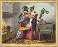 """""""כאב ראש"""", קריקטורה מ-1819"""