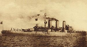 The Italian armored cruiser Amalfi