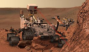Curiosity at Work on Mars (Artist's Concept)