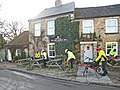 Cyclists at the Bay Horse Inn, Ravensworth - geograph.org.uk - 326794.jpg