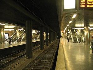 Düsseldorf Stadtbahn - The Heinrich-Heine-Allee subway station