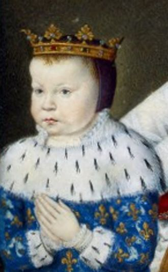 Louis of Valois - A depiction of the young prince in Catherine de' Medici's Book of Hours