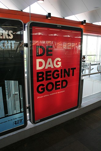 DAG (newspaper) - Advertisement for Dag in May 2007